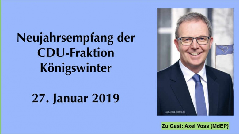 Die CDU-Fraktion Königswinter lädt zum Neujahrsempfang 2019