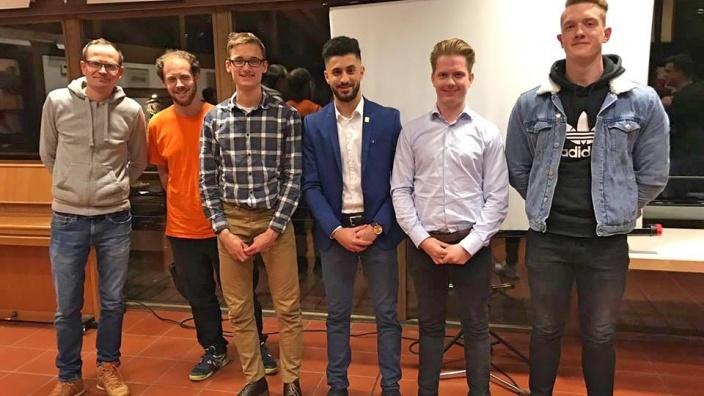 Sattar Altaee (Mitte) bei der Jungen Union Königswinter