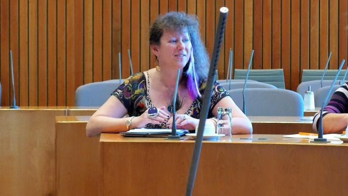 Andrea Milz im Landtag
