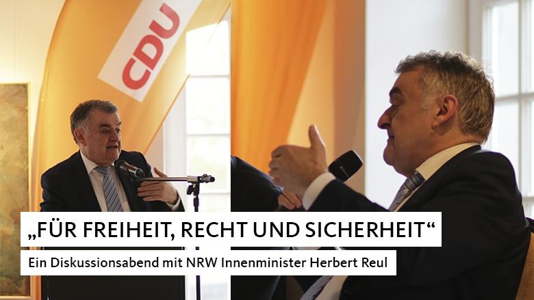 Ein Diskussionsabend mit NRW Innenminister Herbert Reul